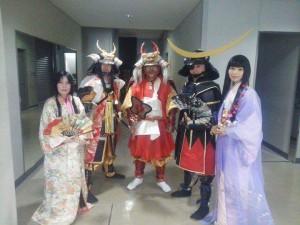 風林火山 甲陽戦国隊の武田信玄公、武田勝頼公、松姫様と記念撮影。